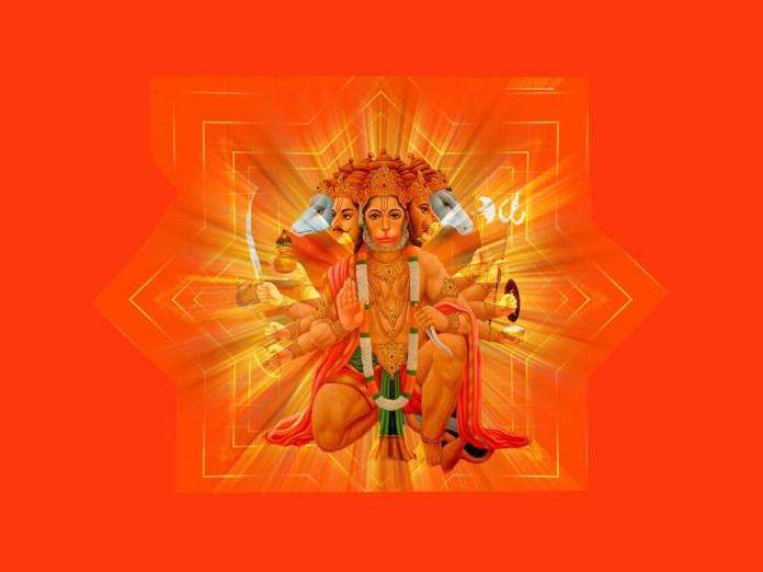 Lovely 3D image of Panchmukhi Hanuman