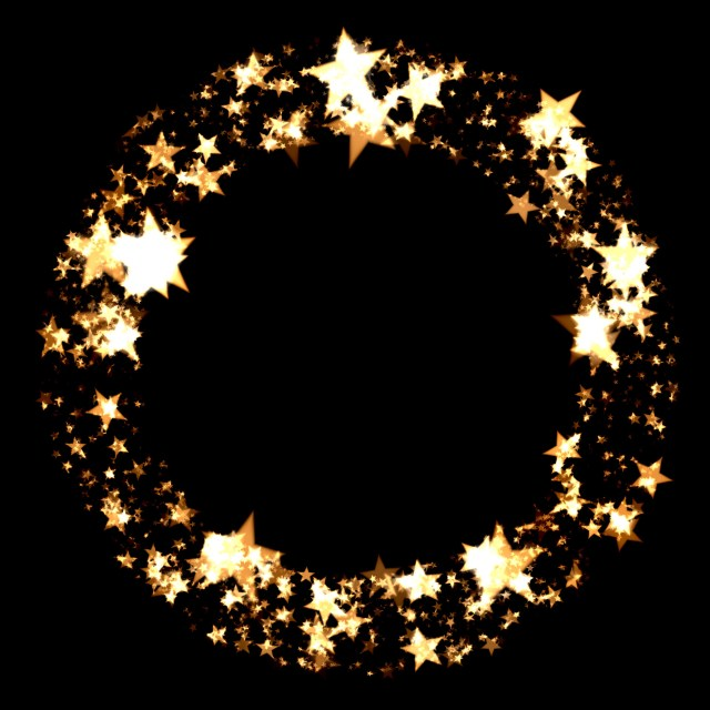 ring of stars at christmas time - Christmas Star Backgrounds