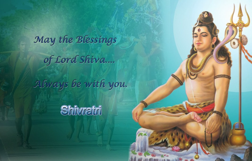 Shivratri lovely wishes with quotes and lord shiv image