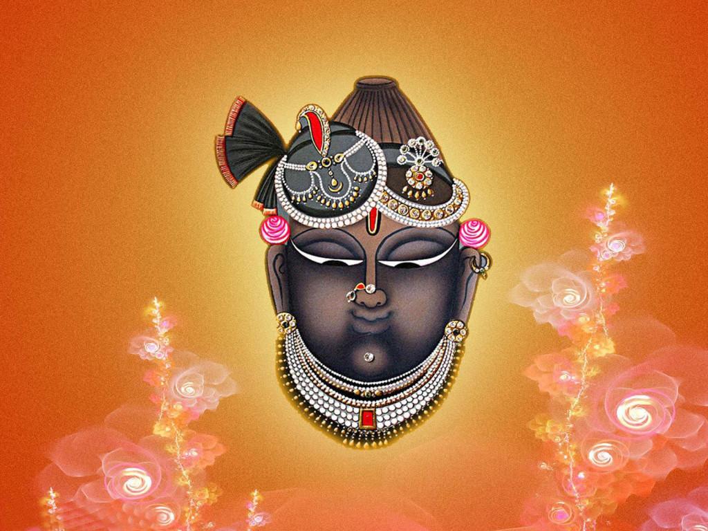 God Shreenathji closeup image