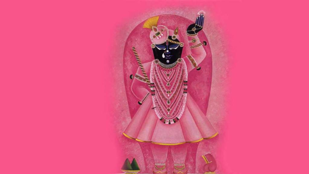 God Shrinathji in pink costume