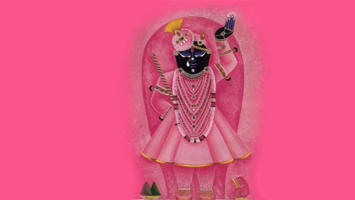 God Shrinathji in pink costume