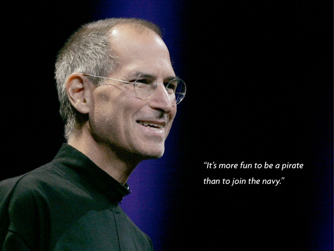 Awesome quotes poster with Steve Jobs picture