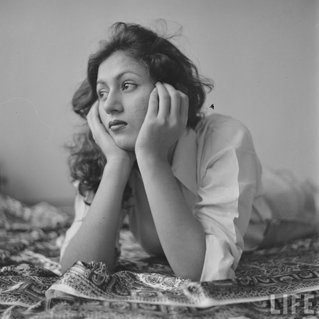 12. Personal and rare photographs of Actress Madhubala taken by James Burke for Life Magazine in 1951.