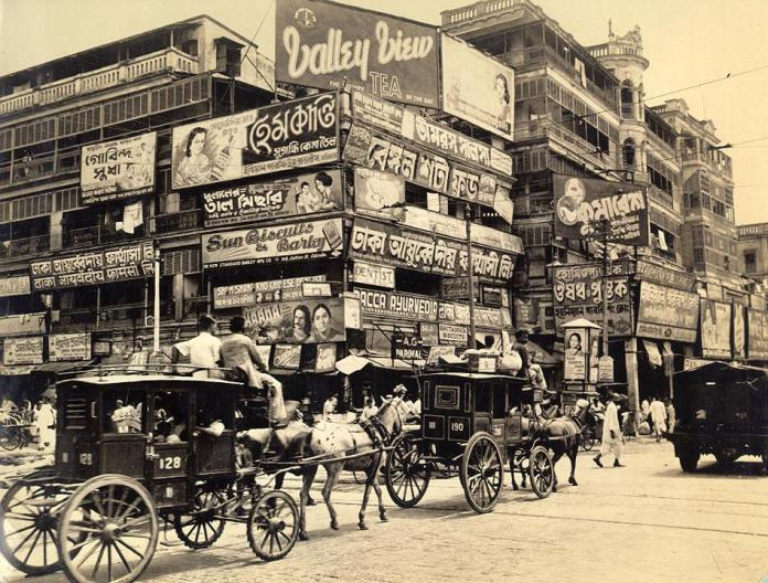 23. Old Tongas ruling the Calcutta city road, 18th century.
