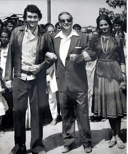 37.Randhir Kapoor, Raj Kapoor and Rekha (1970)