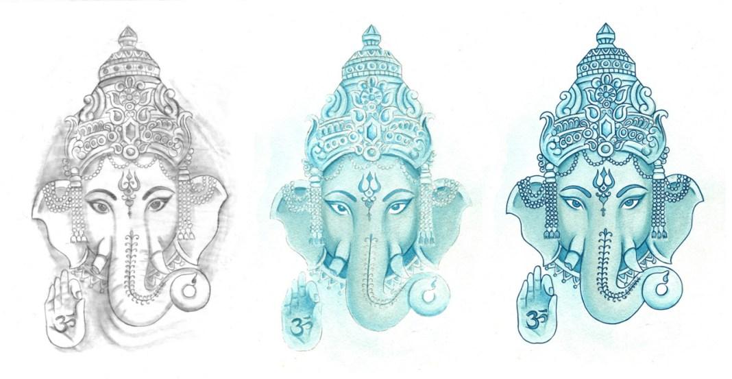 Ganesh Hand Art