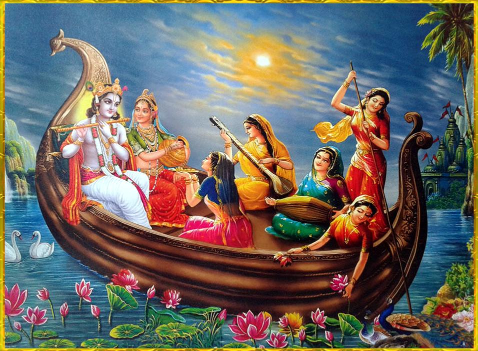 Krishna Rasleela on Boat
