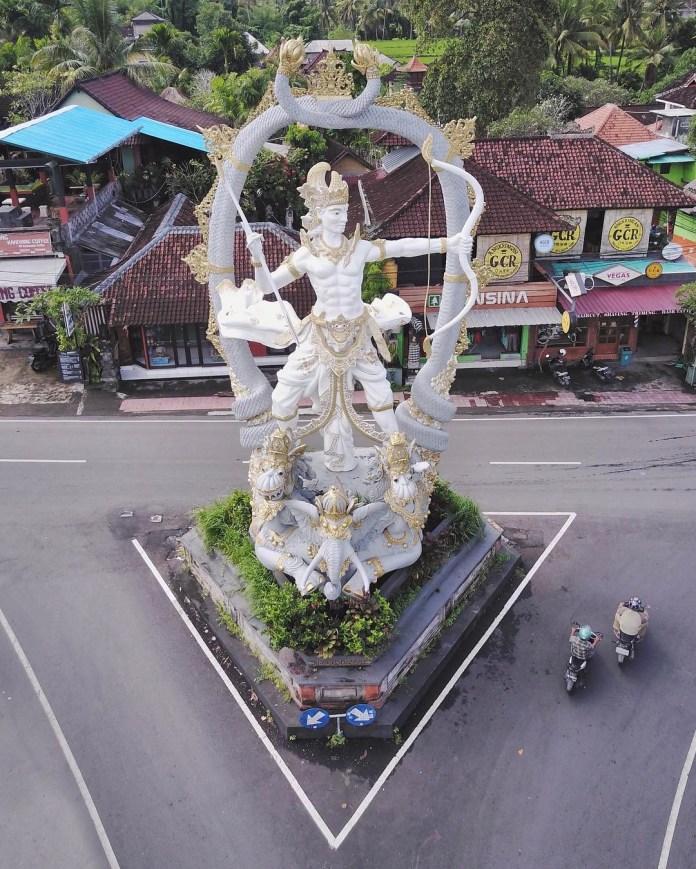 Lord Rama Statue, Ubud Bali - Drone view