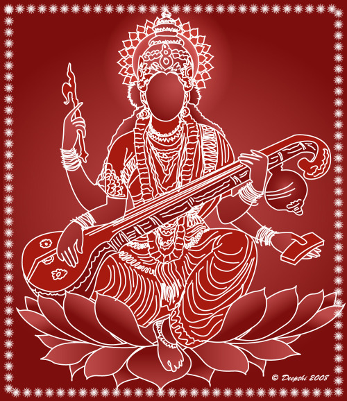 Saraswati Borderline Art