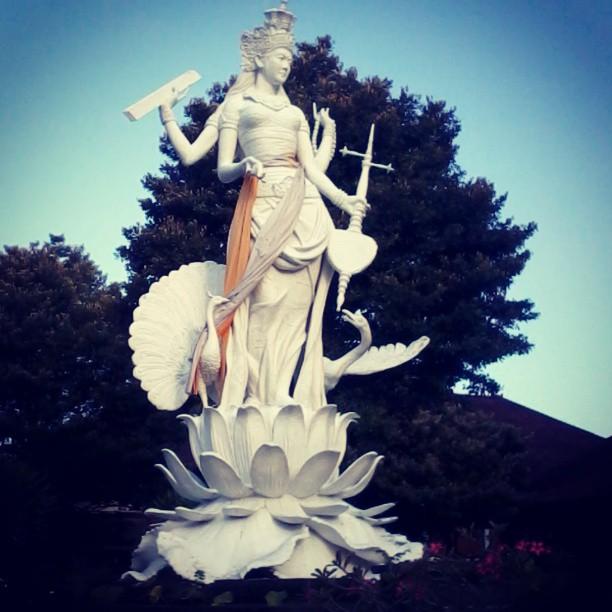 Saraswati Statue in Bali, Indonesia