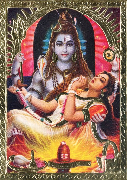 Shiva Carrying Sati in Lap