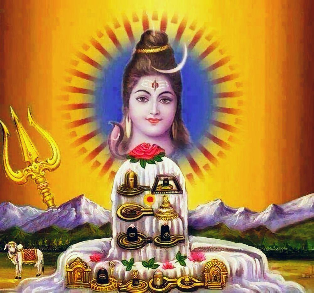 Shiva and 12 Lingas