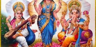 Shri Lakshmi Devi, Saraswati Devi, Ganesh