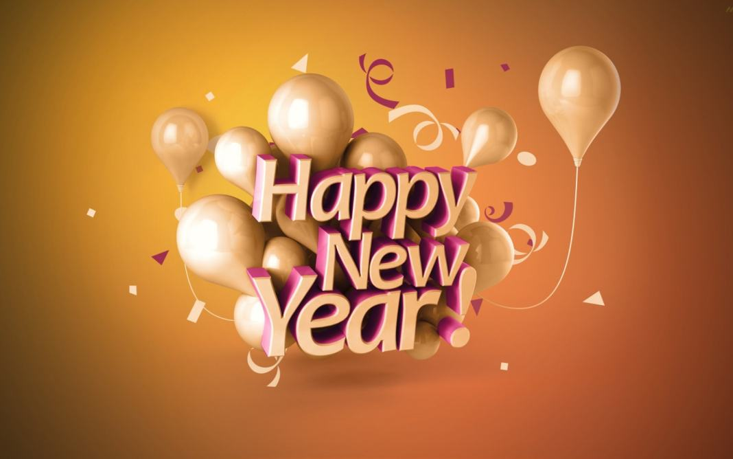 Happy New Year HD Balloon Image