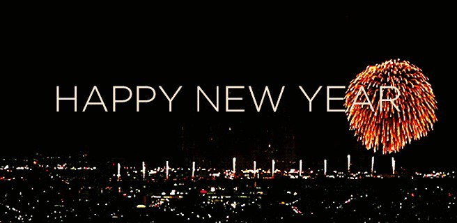 Happy new year animated gif hd