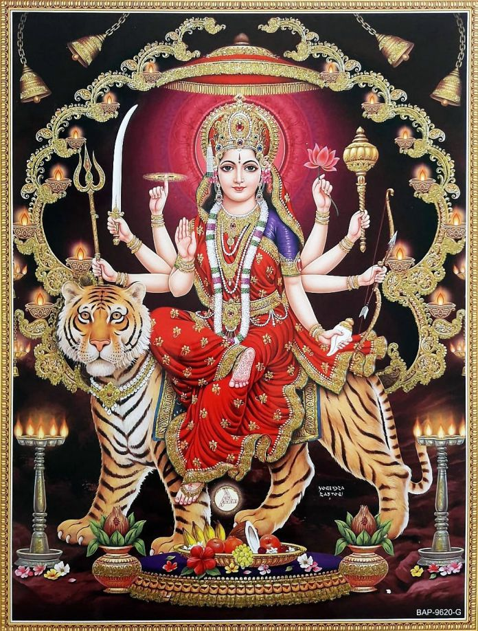 Durga Mata Photo with Frame
