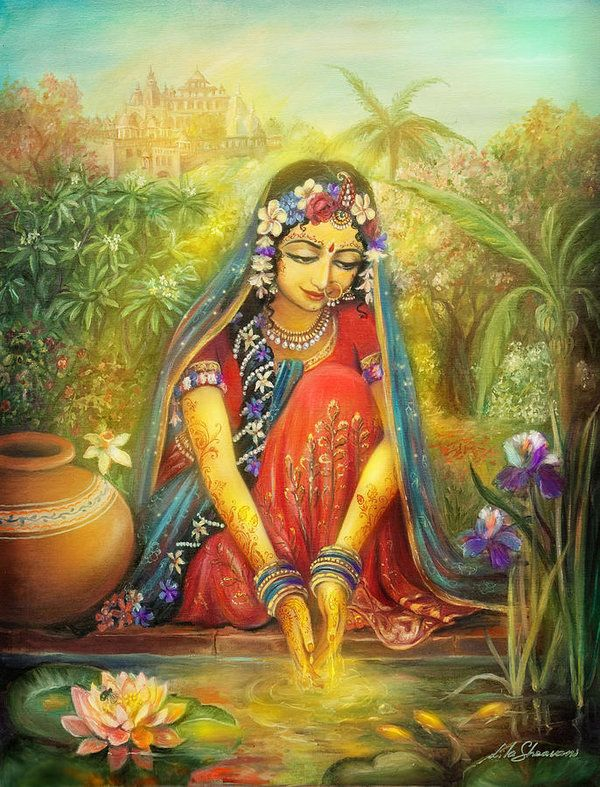 Radha Washing Hands