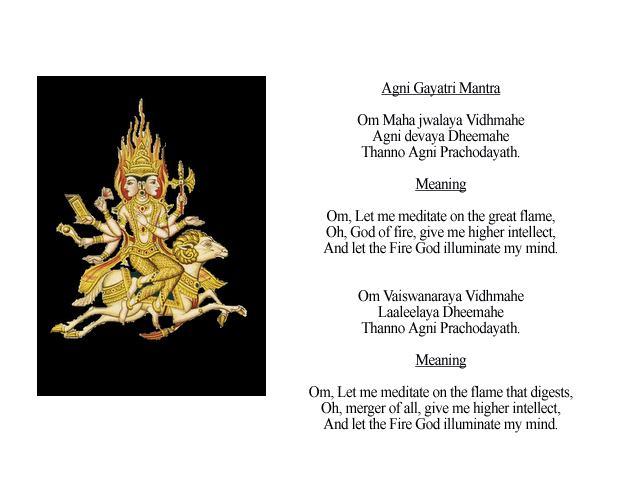 Agni Gayatri Mantra