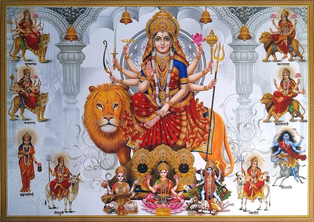 Nine Nav Durga Maa Avatars, Lakshmi, Saraswati, Kali Maa