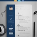 clean and simple resume template by zoki design