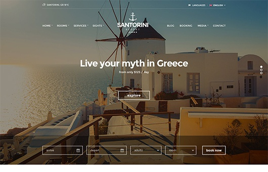 CSS Igniter Santorini WordPress Theme