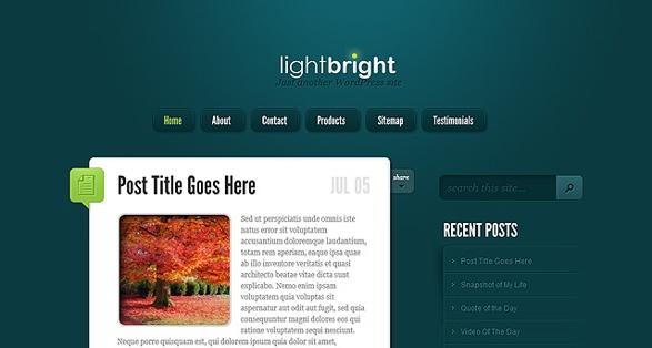 Elegant Themes LightBright WordPress Theme