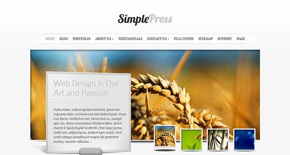 Elegant Themes SimplePress WordPress Theme