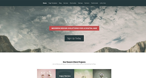 Elegant Themes Vertex WordPress Theme