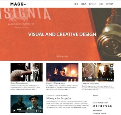 dessign magg responsive wordpress theme
