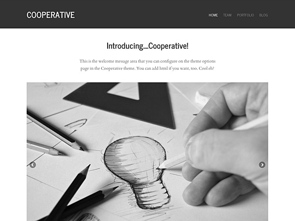 Graph Paper Press Cooperative WordPress Theme