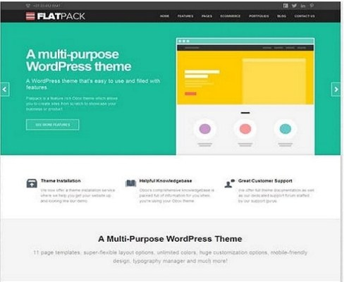 Obox Themes FlatPack WordPress Theme
