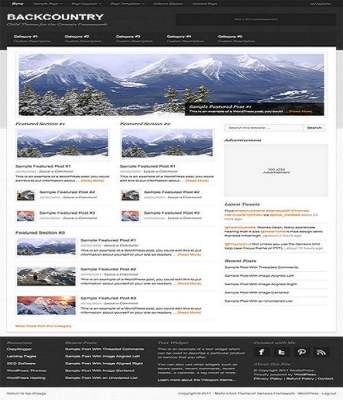 studiopress backcountry wordpress theme