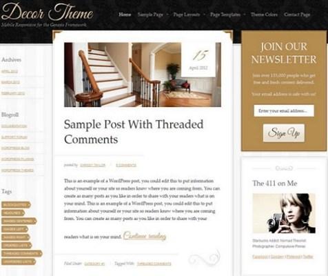 StudioPress Decor WordPress Theme 1