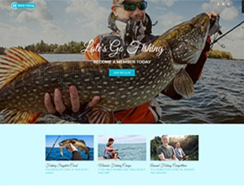 Premium Moto Theme Fishing