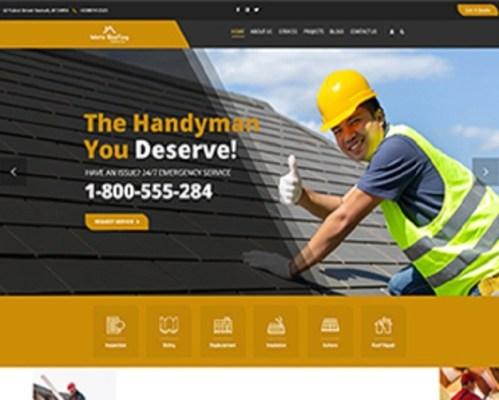 Premium Moto Theme Roofing Contractor