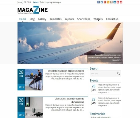 news magazine theme
