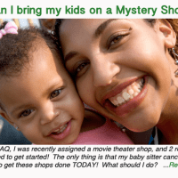 Can I bring my kids on a Mystery Shop?