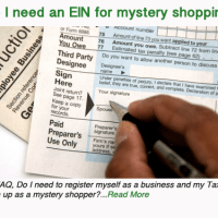Do I need an EIN for mystery shopping?