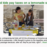 Should kids pay taxes on a lemonade stand?