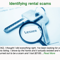 Identifying rental scams