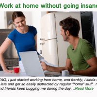 Work at home without going insane