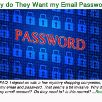 Why do they want my email password?