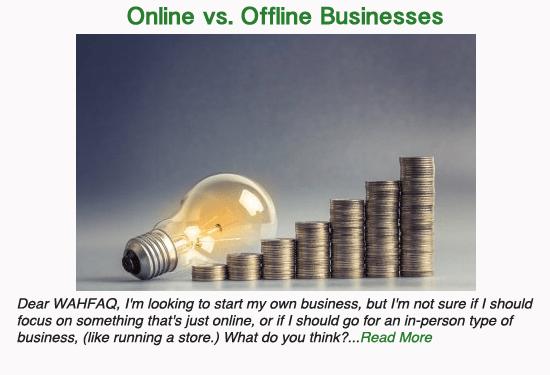 Offline vs. Online Businesses
