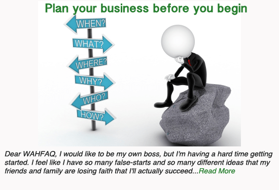 Plan your business before you begin