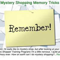 Mystery Shopping Memory Tricks