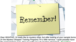 Mystery Shopping Memory Tricks