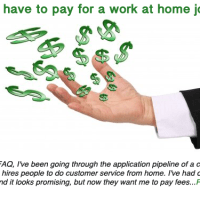 Should you pay for a work at home job?