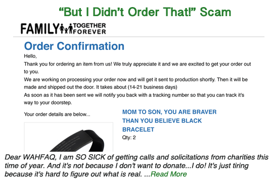 """But I didn't order that!"" Scam"