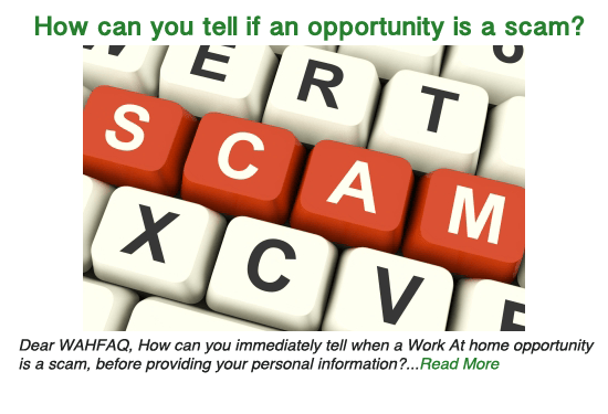 How can you tell if an opportunity is a scam?